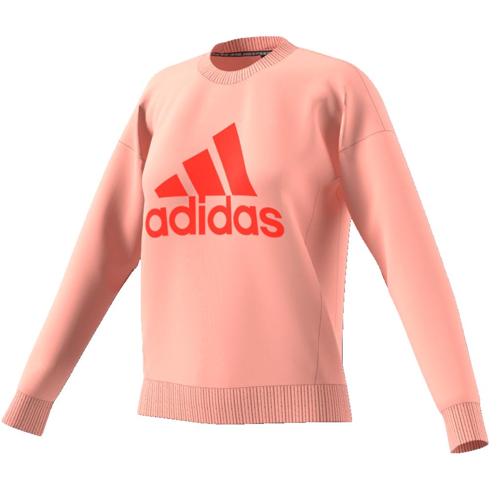 Peach Adidas W MH BOS Crew Genser Familiebutikken.no