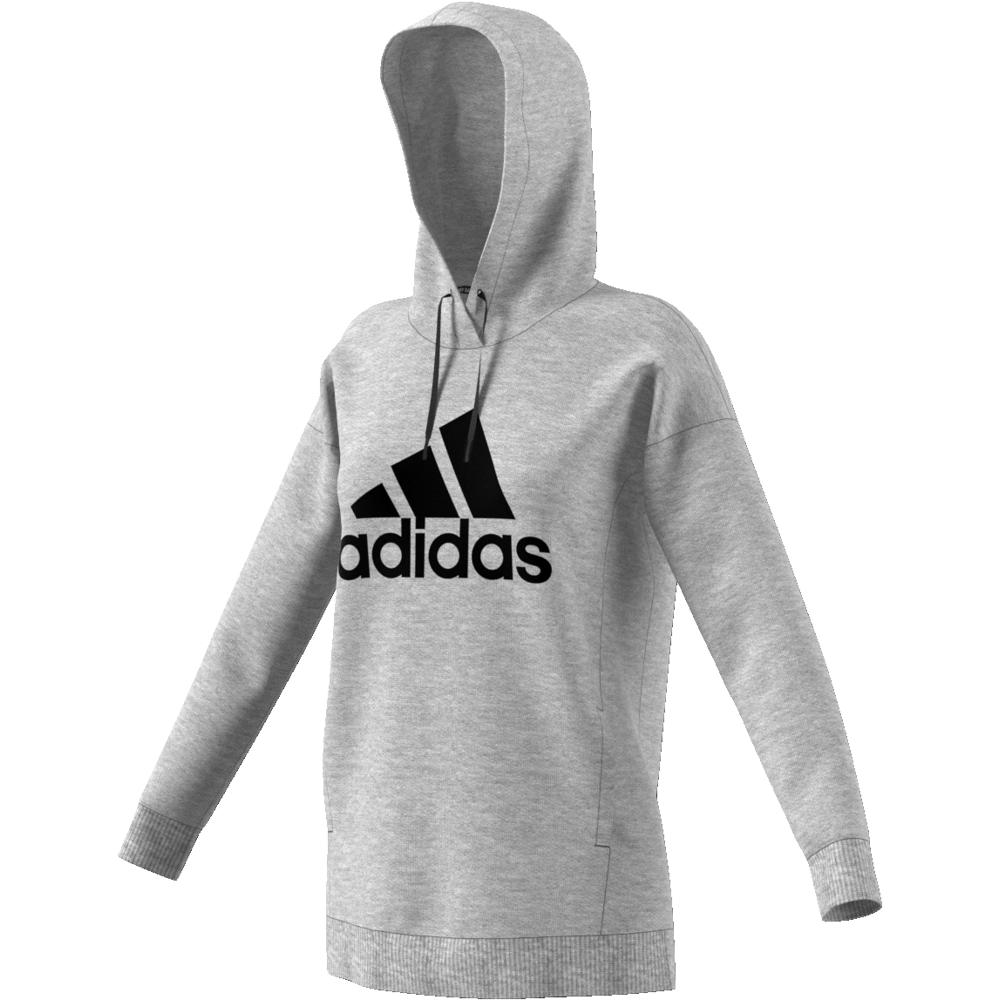 Grå Adidas W MH BOS OH Hoodie Familiebutikken.no
