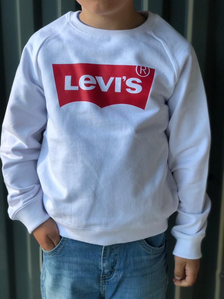 Hvit Levis Crew Genser