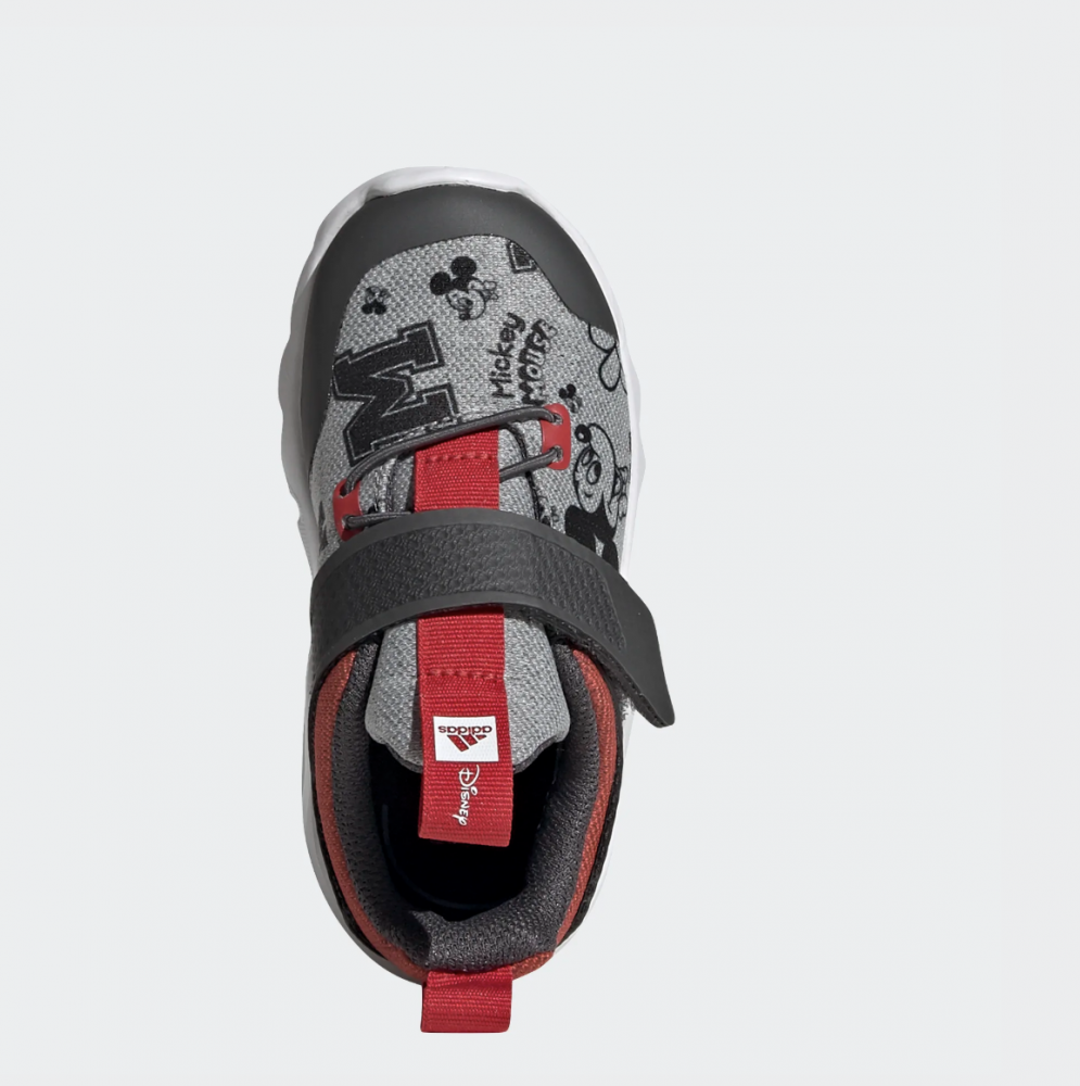 Grå Adidas RapidaFlex Mickey Mikke Mus Sko Familiebutikken.no