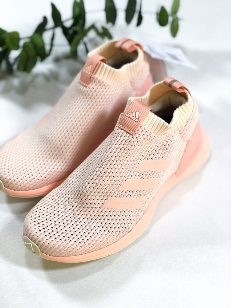 Peach Adidas RapidaRun LL Knit Sko Familiebutikken.no