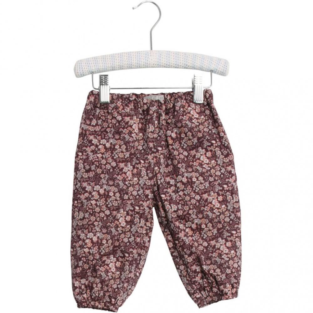 Blå Blomstrete Wheat Trousers Malou Bukse Familiebutikken.no