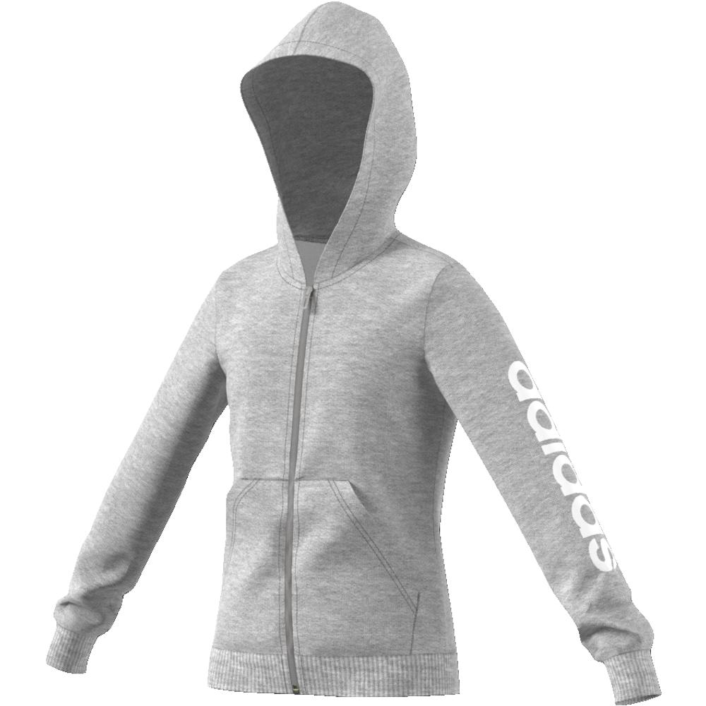 d18104f1 Grå Adidas YG E Lin FZ Hoodie - Familiebutikken.no