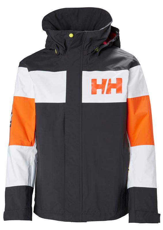 41bcce62 Grå/Orange Helly Hansen JR Salt Port Jakke - Familiebutikken.no