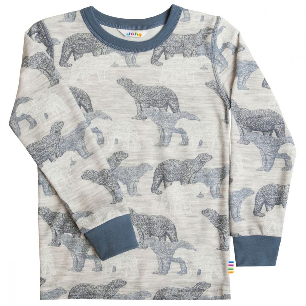 Blå Joha UllBambus Ice Bear Genser Familiebutikken.no