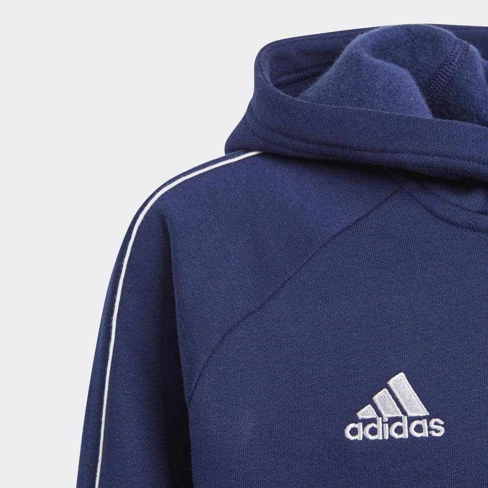 Mørk Blå Adidas Core18 Hoody Hettegenser Familiebutikken.no